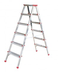 Günzburger Doppelleiter 2x6 Stufen