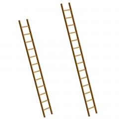 Günzburger Holz-Anlegeleiter ohne Traverse