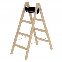 Günzburger Holz Stehleiter 2x4 Sprossen