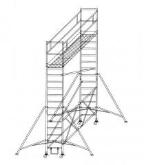 Günzburger Klappgerüst 0,75x1,80m Plattform, 5,80m Arbeitshöhe