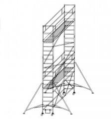 Günzburger Klappgerüst 0,75x1,80m Plattform, 6,80m Arbeitshöhe