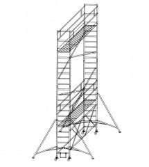 Günzburger Klappgerüst 0,75x1,80m Plattform, 7,80m Arbeitshöhe