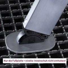 Günzburger nivello 2019 Fußplatte Gitterrost