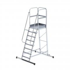 Günzburger Podesttreppe einseitig begehbar fahrbar 8 Stufen