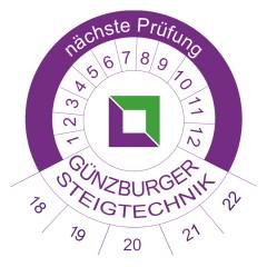 Günzburger Prüfplakette 50er-Pack