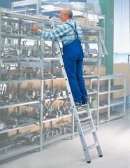 Günzburger Aluminium-Regalleiter einhängbar 6 Stufen