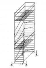 Günzburger Rollgerüst mit Doppelplattform 1,35x1,80m Plattform, 8,50m AH