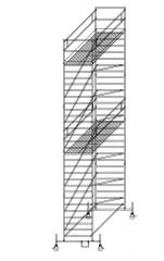 Günzburger Rollgerüst mit Doppelplattform 1,35x3,00m Plattform, 10,50m AH