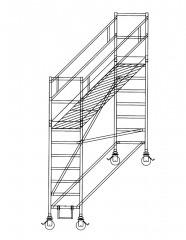 Günzburger Rollgerüst mit Auslegern 0,75x1,80m Plattform, 4,40m AH