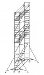 Günzburger Rollgerüst mit Auslegern 0,75x1,80m Plattform, 9,40m AH