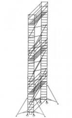 Günzburger Rollgerüst mit Auslegern 0,75x1,80m Plattform, 12,40m AH
