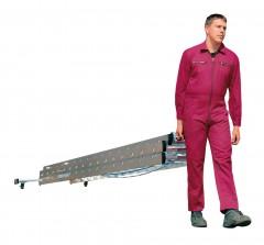 Günzburger Seilzugleiter mit roll-bar-Traverse 3x18 Sprossen