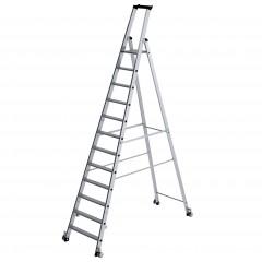 Günzburger Stehleiter einseitig begehbar mit Rollen 12 Stufen