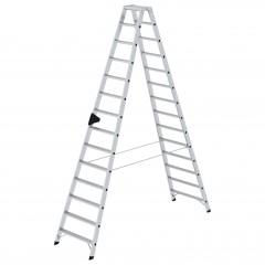 Günzburger Stehleiter mit ergo-pad beidseitig begehbar 2x14 Stufen