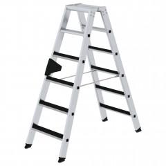 Günzburger Stehleiter beidseitig begehbar mit clip-step 2x6 Stufen