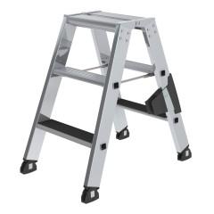 Günzburger Stehleiter beidseitig begehbar mit clip-step 2x3 Stufen