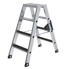 Günzburger Stehleiter beidseitig begehbar mit clip-step 2x4 Stufen
