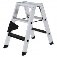 Günzburger Stehleiter beidseitig begehbar mit clip-step R13 250kg 3 Stufen