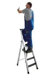 Günzburger Stehleiter mit clip-step R13 250kg, 3 Stufen