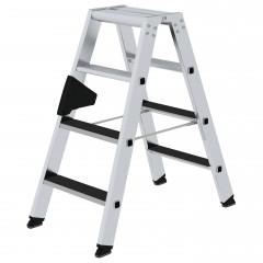 Günzburger Stehleiter beidseitig begehbar mit clip-step R13 2x4 Stufen