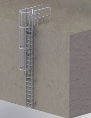 Günzburger Ortsfeste Steigleitern an maschinellen Anlagen