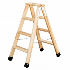 Günzburger Holz Stufen-Stehleiter 2x4 Stufen