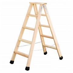 Günzburger Holz Stufen-Stehleiter 2x5 Stufen