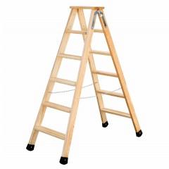Günzburger Holz Stufen-Stehleiter 2x6 Stufen