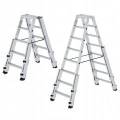 Günzburger Stufen- Stehleiter treppengängig beidseitig begehbar