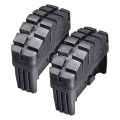 Hailo Fuß-Set in schwarz für 85x25mm Holm