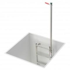 Hailo Einholm- Einstiegshilfe versenkbar zur Montage an Schachtleitern
