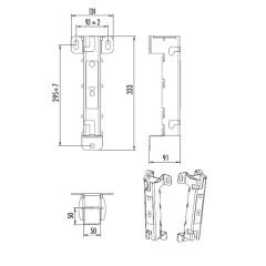 Hailo Führungshülse Typ ECONORM aus Edelstahl 50x50mm, Wandabstand 140mm