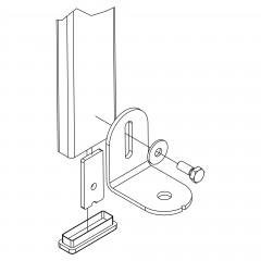 Hailo universal Fußhalter für Schachtleitern aus verzinktem Stahl