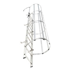 Hailo Steigleiter mit Rückenschutz ALM-19 aus Aluminium + Stahl verzinkt 5,32m