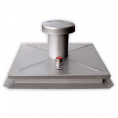 Hailo Schachtabdeckung HS1 Edelstahl 2mm tagwasserdicht mit Entlüftung 800x800mm