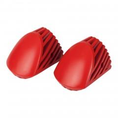 Hailo Tatzenfuß-Set in rot für Hailo Sprossenleitern mit gewölbter Ovaltraverse (bis Bj. 12/17)
