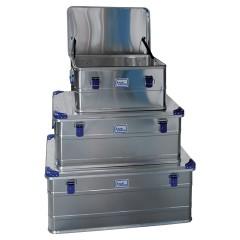 Iller Aluminiumboxen mit Stapelecken und 49-146l Volumen