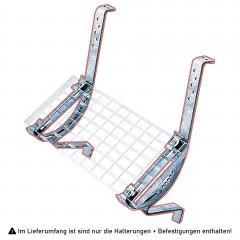 Iller Laufroststütze, paar inklusive Laufrostbefestigung mit Schraub-Montage