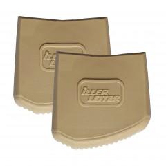 Iller Außenschuhe für Sprossen- und Stufenstehleitern 56x22mm Holmgröße in beige 2 Stück