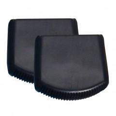 Iller Außenschuhe für Sprossen- und Stufenstehleitern 72-75x25mm Holmgröße in schwarz 2 Stück