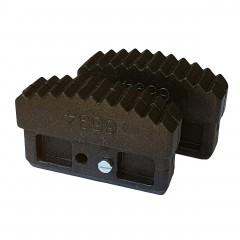 Iller Innenschuhe für Sprossenleitern 90x22mm Holmgröße 2 Stück
