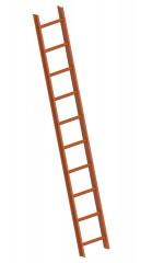 Layher 1051 Dachleiter kupferbraun 10 Sprossen
