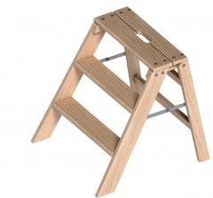 Layher 1055 klappbarer Holzstufentritt 3 Stufen