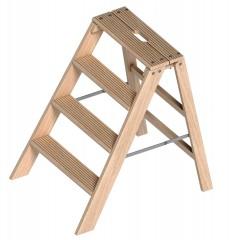 Layher 1055 klappbarer Holzstufentritt 4 Stufen