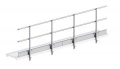 Layher Seitenschutz für Alu-Steg 600 4,12m Länge