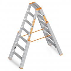 Layher Topic 1062 Treppenstehleiter mit 7 Stufen 3,20m AH