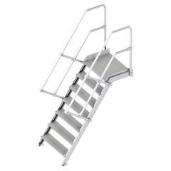 Layher 112 Treppe mit Plattform 55°