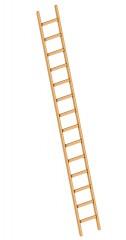 Layher 1052 Holzanlegeleiter 14 Sprossen