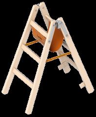 Layher 1038 Holzstehleiter 2x3 Sprossen
