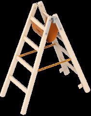 Layher 1038 Holzstehleiter 2x4 Sprossen